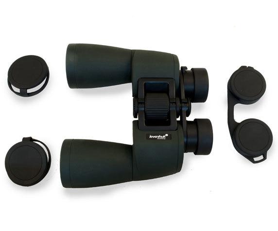 Бинокль Sherman Pro 10x50 с защитными крышками объективов и окуляров