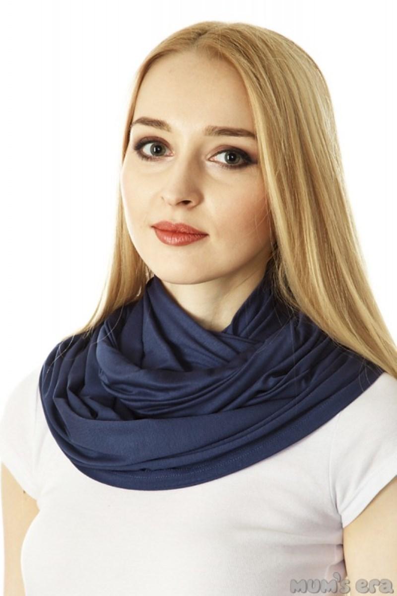 Накидка-шарф для кормления 09723 синий