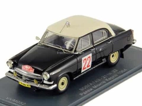 GAZ-21 Volga №22 Vaskovich-Dobrovolsky Rally Monte Carlo 1964 1:43 VVM / VMM