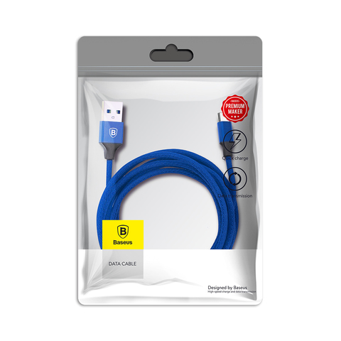Кабель Baseus Yiven Cable For Type-c 3A 1.2M Blue
