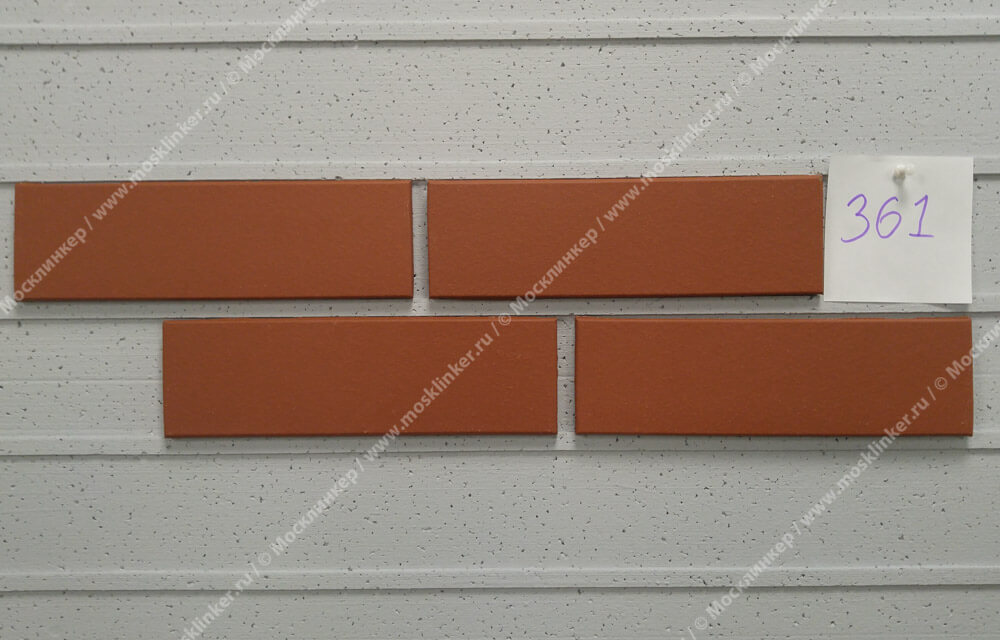 Stroeher - E 361 naturrot , Keravette, unglasiert, неглазурованная, гладкая, 240x71x11 - Клинкерная плитка для фасада и внутренней отделки