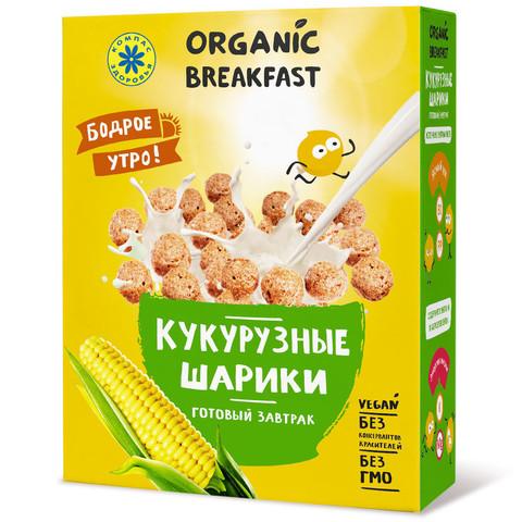 Компас здоровья завтрак сухой кукурузные шарики 100г