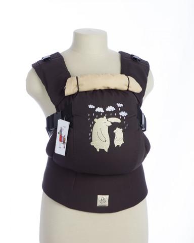 Эрго-рюкзак ТеддиСлинг Забота коричневый без кармана