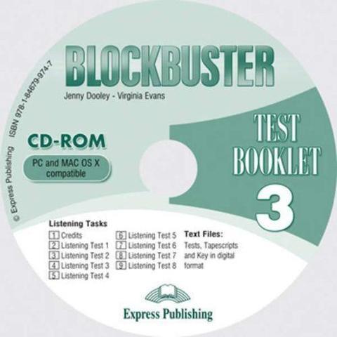 Blockbuster 3. Test Booklet CD-ROM. Аудио CD к сборнику тестовых заданий и упражнений