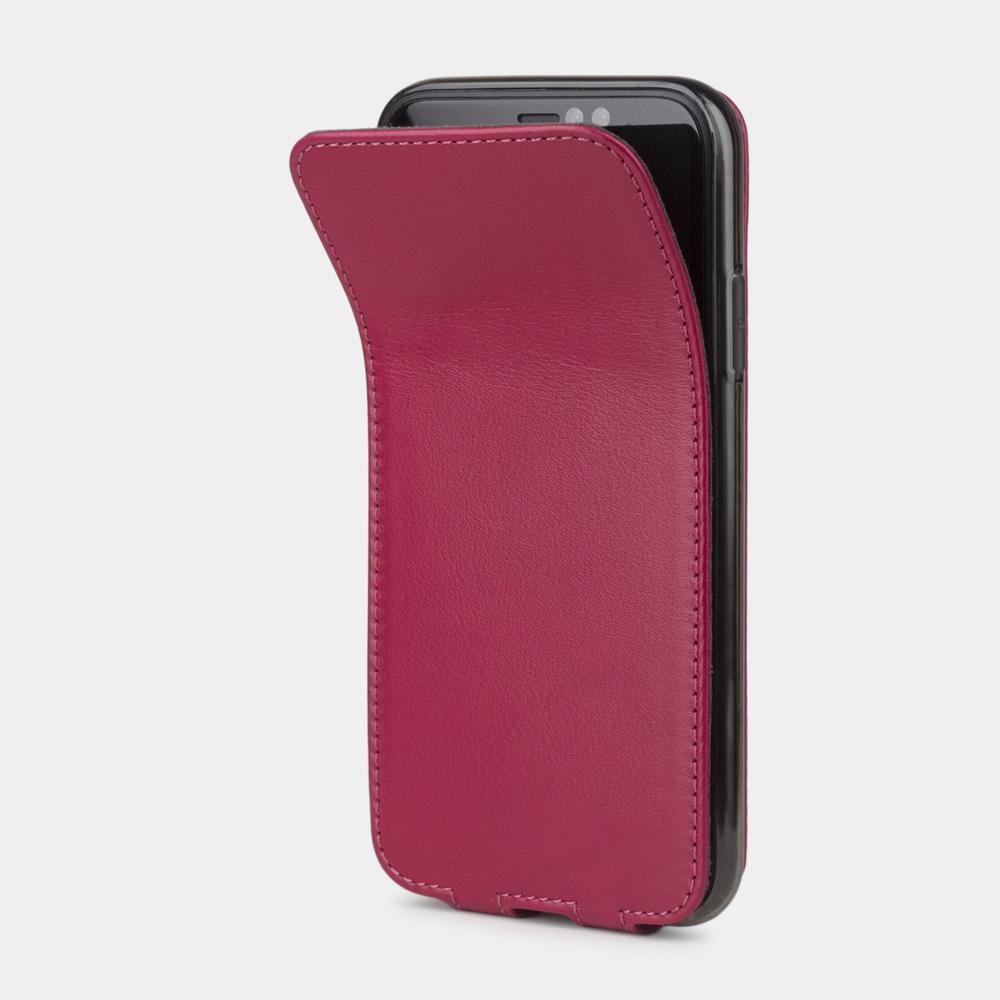 Чехол для iPhone XR из натуральной кожи теленка, цвета малины