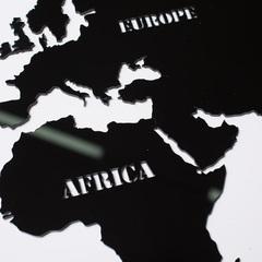 Карта Мира из стекла Black фото 3