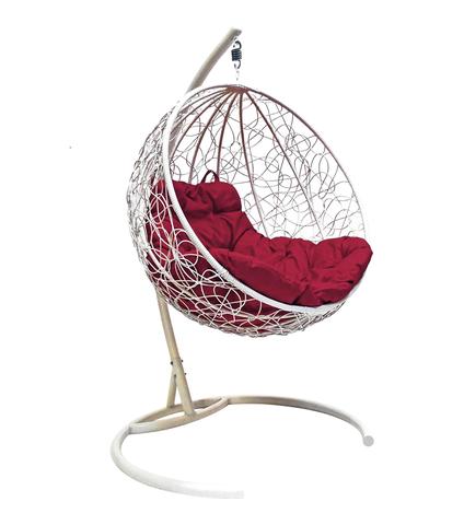 Кресло подвесное Milagro white/burgundy