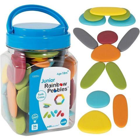 Обучающий набор Радужные камешки Junior (природные цвета, 36 элементов) Edx education, арт. 13229J