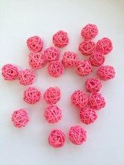 Шар плетеный ротанговый, 1 шт, 2,5 3 см.