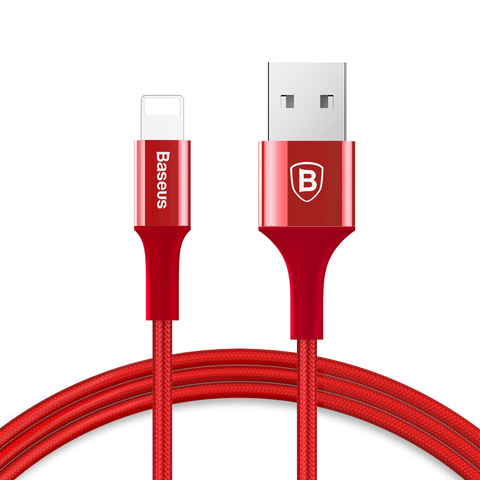 Кабель Baseus Shining Cable with Jet metal 1M Red