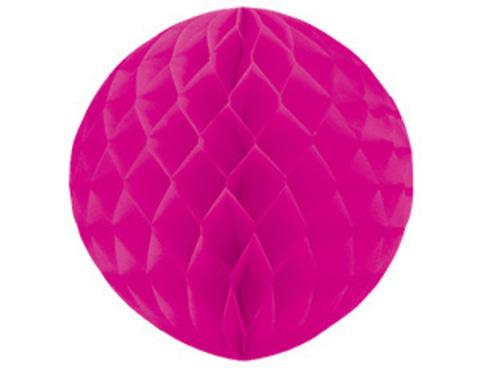 1412-0061 Шар бумажный ярко-розовый 30см/G