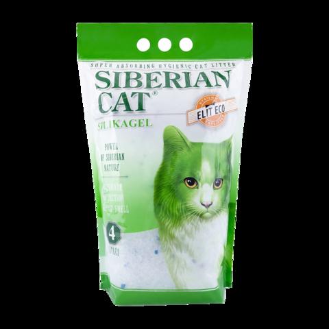Сибирская кошка Элита Эко Наполнитель для туалета кошек силикагель, зеленые гранулы