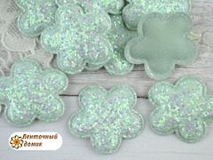 Мягкий декор цветочки конфетные аква