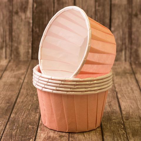 Капсулы для капкейков усиленные, свето-розовые,20шт,50*40мм