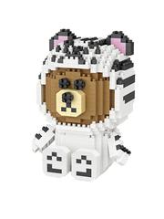 Конструктор LOZ Браун Белый тигр 760 деталей NO. 9789 White tiger Brown iBlockFun Series
