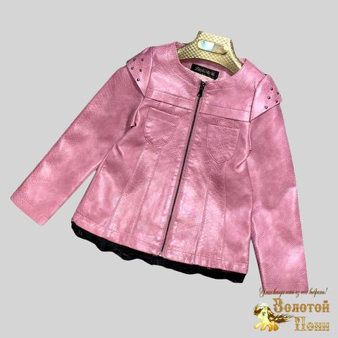 Куртка экокожа девочке (3-12) 210328-К-74021