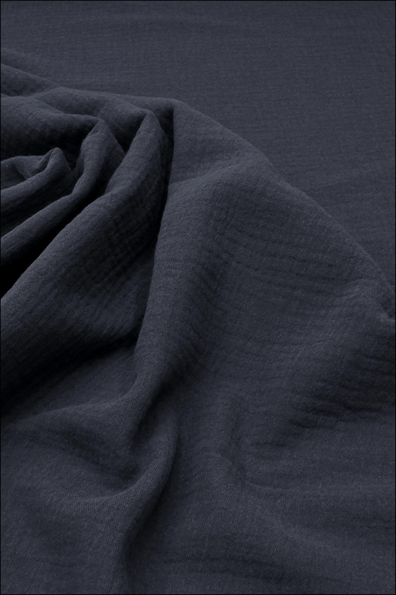 Ткань муслиновая, черника