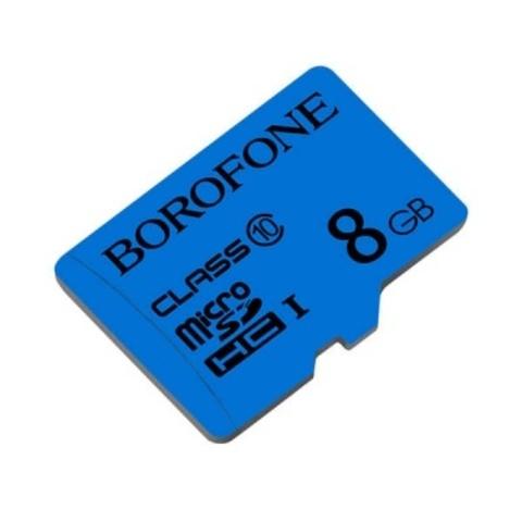 Yaddaş karti Карта памяти microSDHC BOROFONE I, 8GB, синий