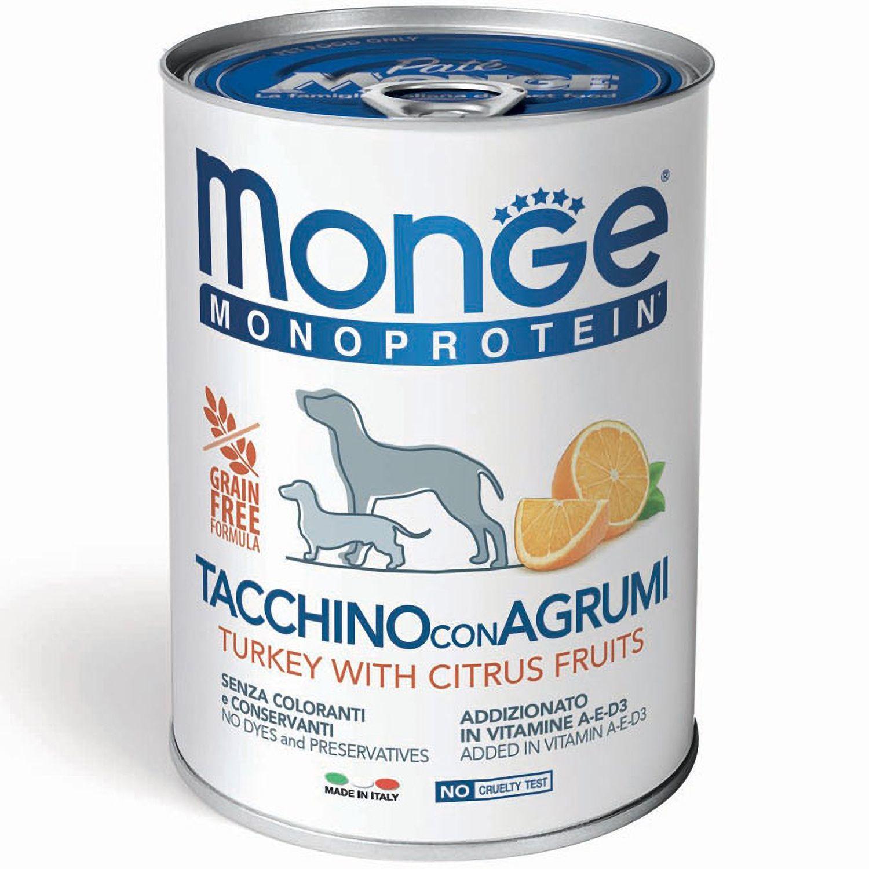 Monge Паштет для собак Monge Dog Monoproteico Fruits монопротеиновый, из индейки с рисом и цитрусовыми 70014335_1.jpeg