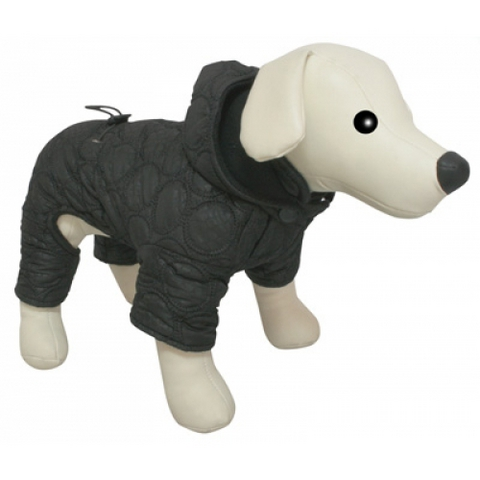5615121 DEZZIE Комбинезон д/собак теплый с капюшоном стеганый черный 25см