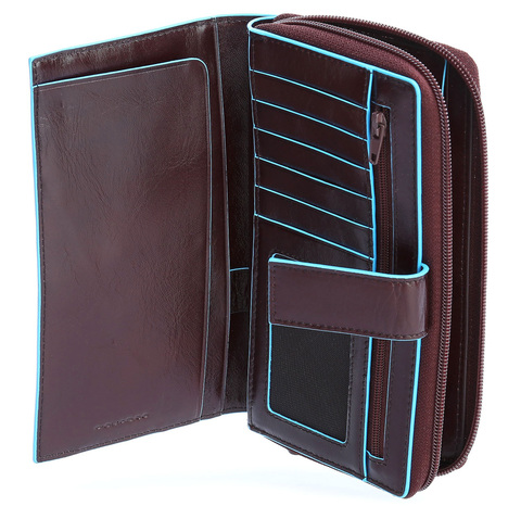Мультипортмоне Piquadro Blue Square, коричневое, 10х17,5х3 см