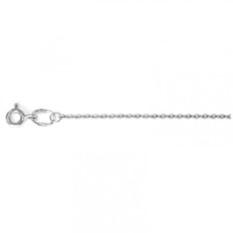 4040- Тонкая цепочка из серебра якорного плетения
