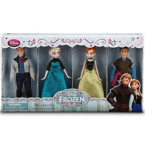 Дисней Холодное сердце мини-куклы Анна, Эльза, Ганс и Кристоф