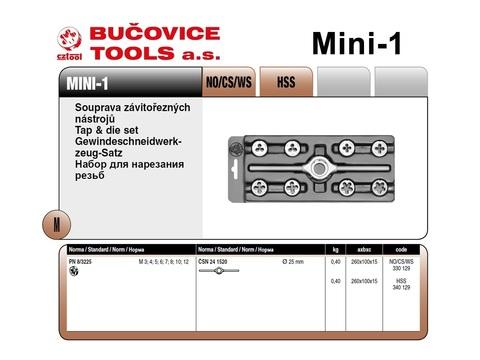 Набор плашек М3-М12 9пр CS(115CrV3) Bucovice 330129