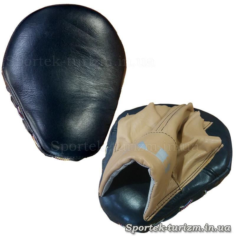 Гнута боксерська лапа зі шкіри (18 на 22 см)