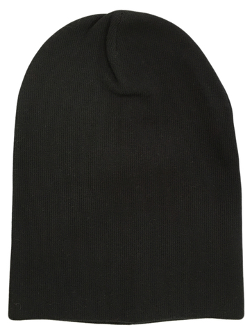 Черная зимняя шапочка бини