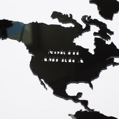 Карта Мира из стекла Black фото 5