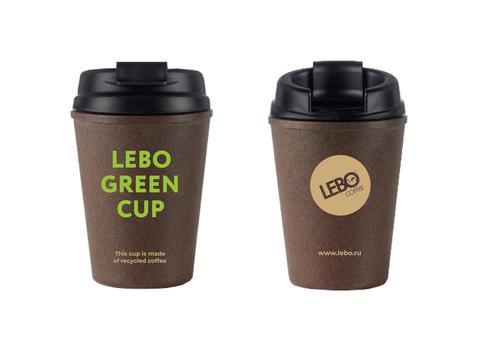 Эко стакан LEBO GREEN CUP + Кофе молотый для чашки LEBO GOLD 7 г.