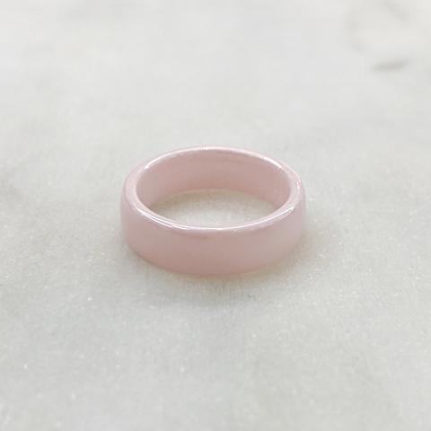 Кольцо Керамика гладкое розовый