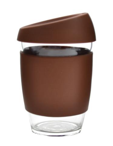 Кружка Coffee Cup из боросиликатного стекла 340 мл. коричневый