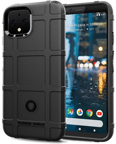 Чехол на Google Pixel 4 цвет Black (черный), серия Armor от Caseport