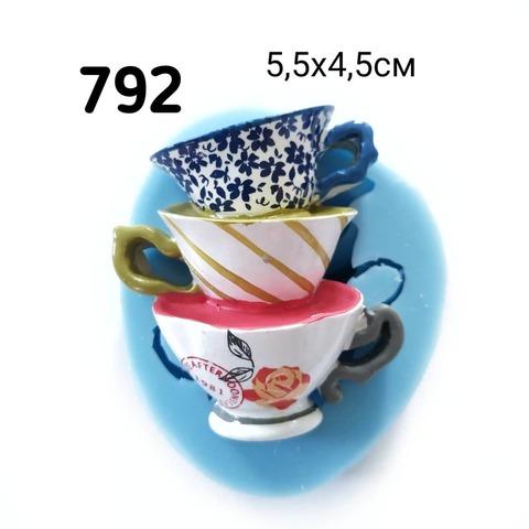 0792 Молд силиконовый. Чашки.