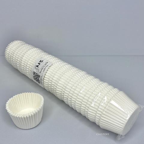 Бумажные формы для кексов d=12,5 мм (1000 шт.) белые