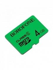 Yaddaş kartı \ Карта памяти \ Flash Card  microSDHC BOROFONE, 4GB, зеленый