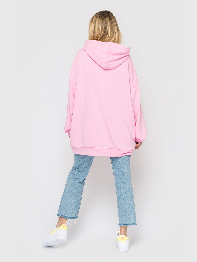 Худи трикотажное розовое YOS от украинского бренда Your Own Style