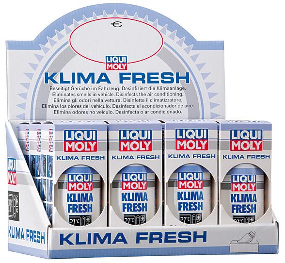 Liqui Moly Klimafresh освежитель Выгодная упаковка 12 штук Устранит запах за 10 минут + лимонная свежесть