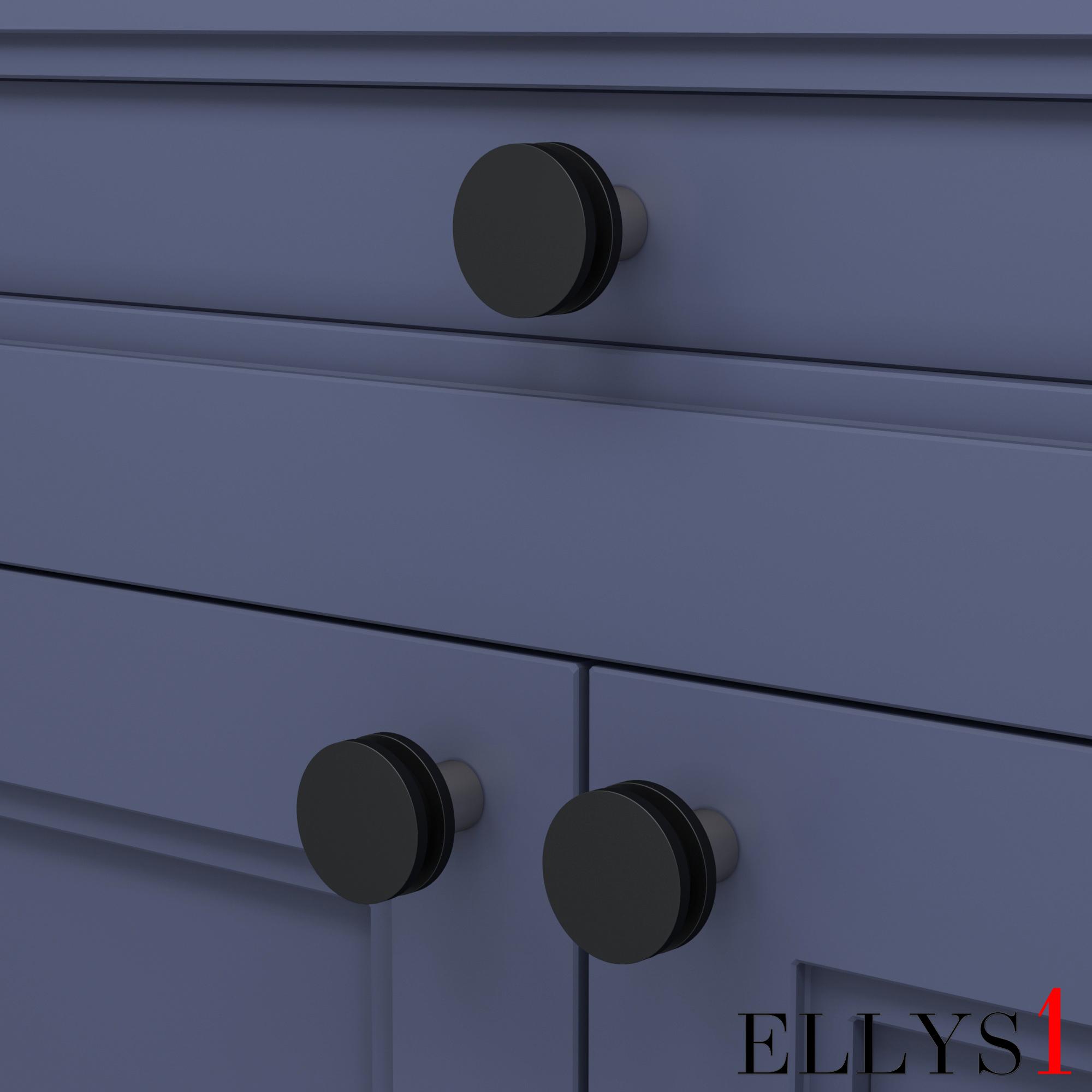 Кнопка Iris / Black And Polished Nickel