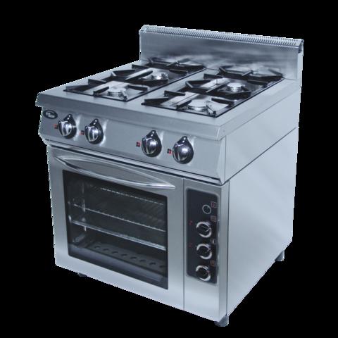 Плита газовая Grill Master Ф4ПДГ/800  (с духовкой - газ)  800х800х1050, 4 гор.