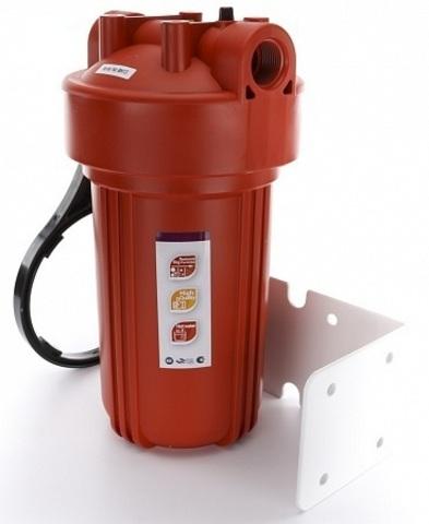 Комплект PS 907-BK1-PR (корпус ВВ10 для г/в, рыжая колба, ключ, кронштейн, картридж) Райфил