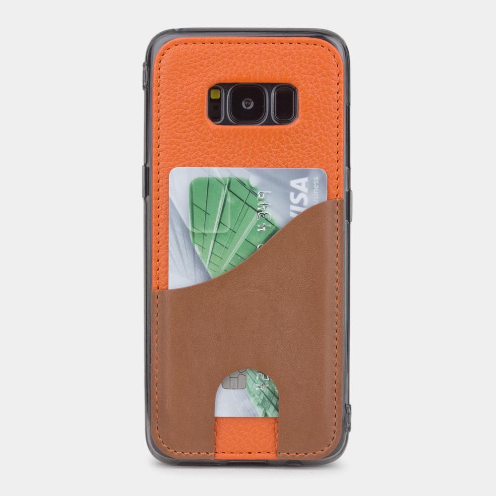 Чехол-накладка Andre для Samsung S8 Plus из натуральной кожи теленка, оранжевого цвета