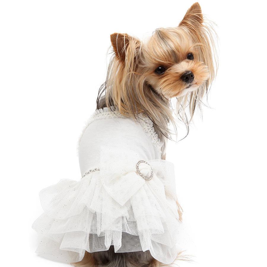 белое платье для йорка