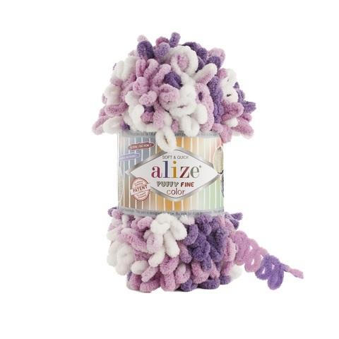 Пряжа Alize Puffy Fine Color цвет 6067