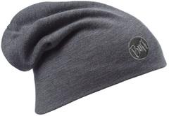 Теплая шерстяная шапка-бини Buff Grey