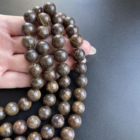 Бусины бронзит шар гладкий 12 мм 16 бусин