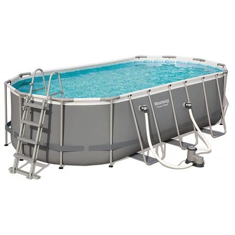 Каркасный бассейн Bestway 56710 (549х274х122 см) с картриджным фильтром, лестницей и защитным тентом / 20854