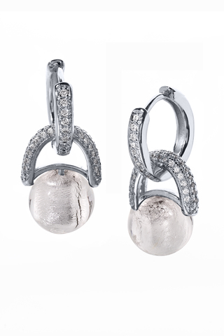 Серьги Perla Beatrice Crystal Silver 004A